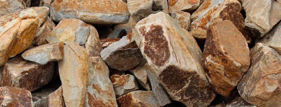 Декоративный натуральный бутовый камень