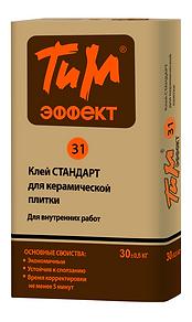 ТиМ-ЭФФЕКТ №31 Клей СТАНДАРТ для керамической плитки цена