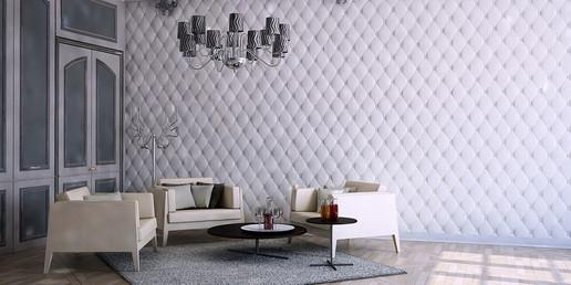 Декоративная отделка стен гипсовыми 3Д п