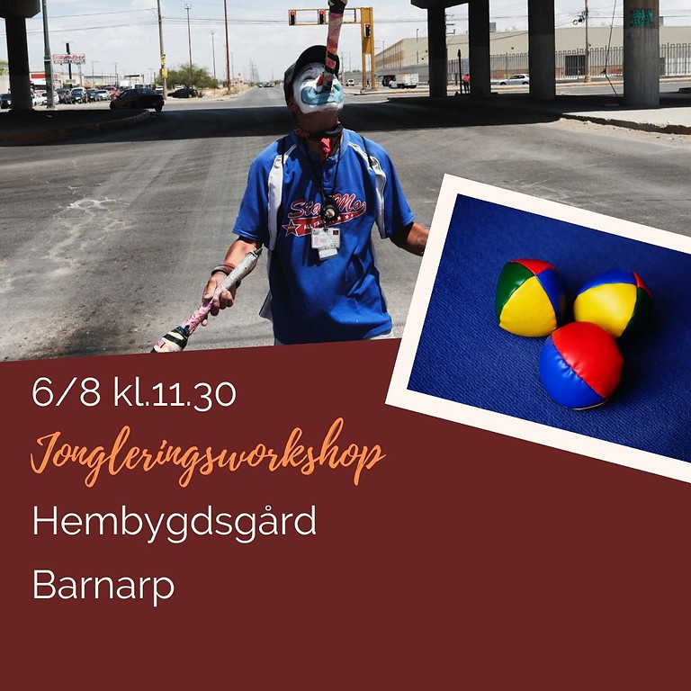 Jongleringsworkshop - Sommarkul Barnarp