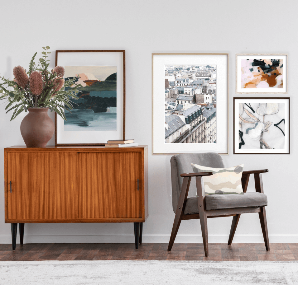 Spring Interior Design, Styled Artwork, Native Australian Plants