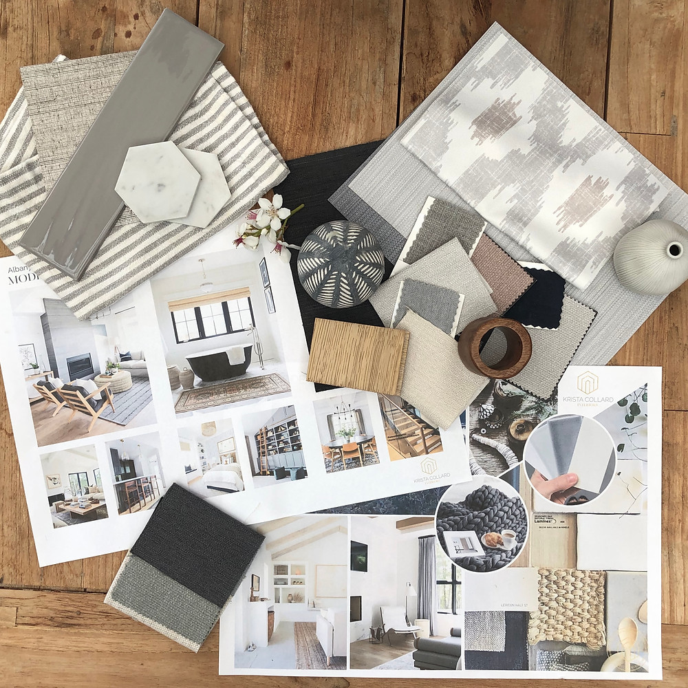 Calm and natural colour palette. Mood Board and Inspiration.