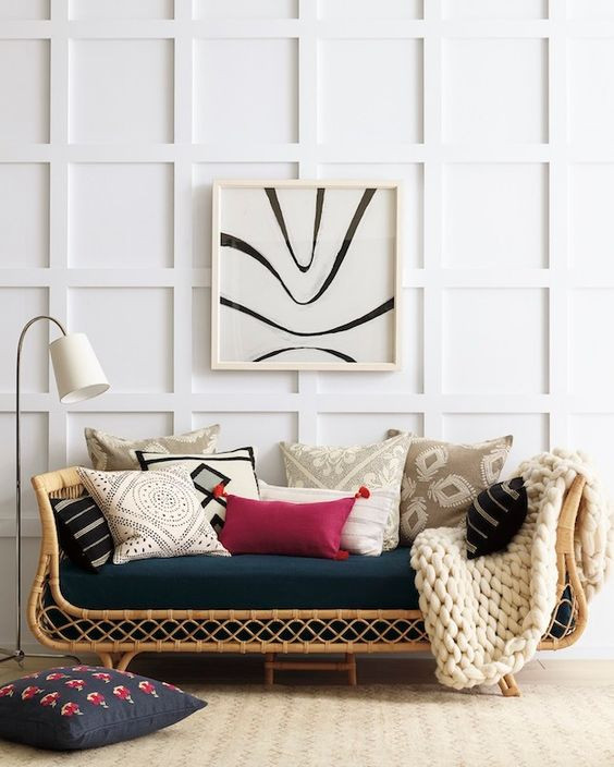 Rattan Daybed in a with traditional and modern twists.