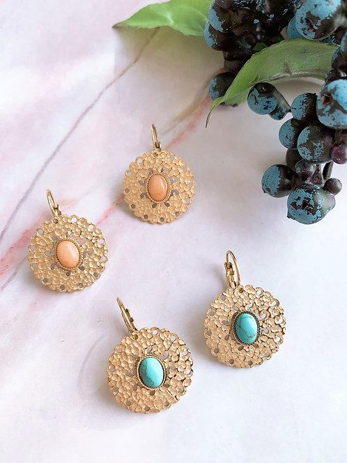 Boucles d'oreilles Dorine ( 2 couleurs )