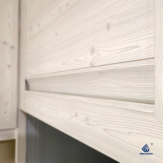 Light Oak Woodgrain Aluminium Kitchen Cabinet