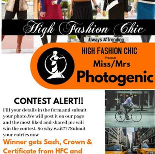 HFC Miss/Mrs Photogenic Contest 2020