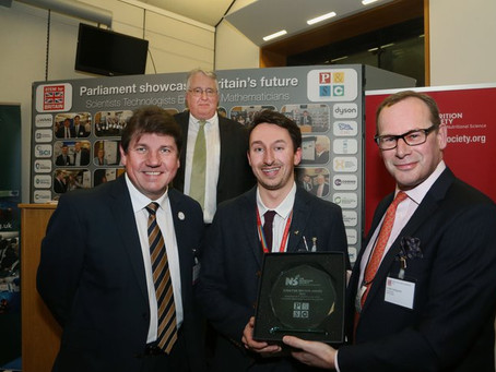 PhD Student George Firth awarded prize at Stem4Brit