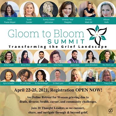 Gloom To Bloom All Speakers IG April 202