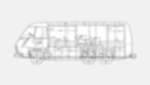 Motorhome Dimensional Drawing 23' Driver