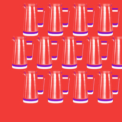 red typographic