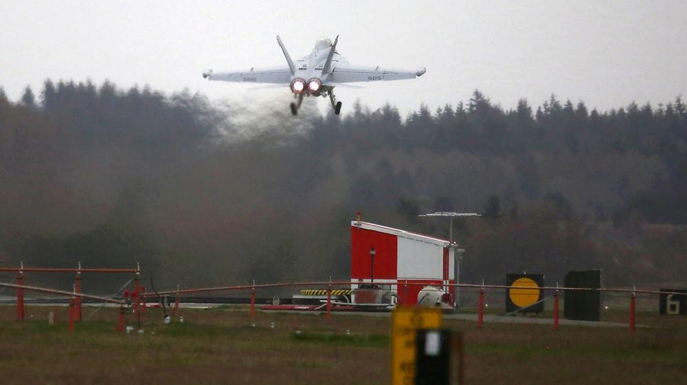 Growler Takeoff from NASWI - Ken Lambert, Seattle Times