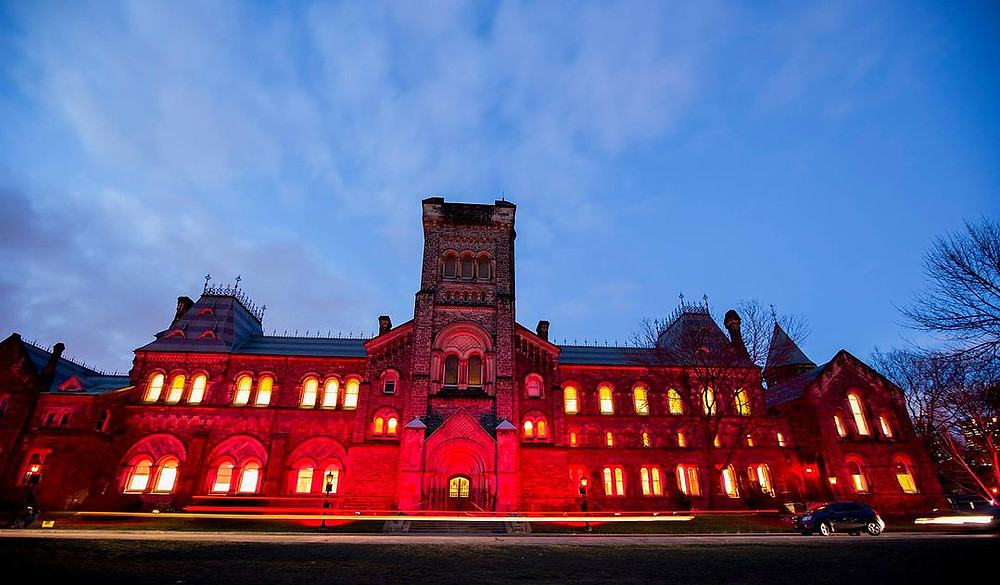 UC lit up red for World AIDS Day 2014
