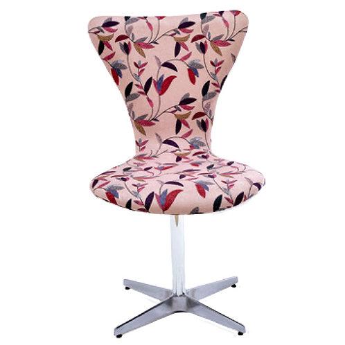 Cadeira formiga giratória com base em alumínio.