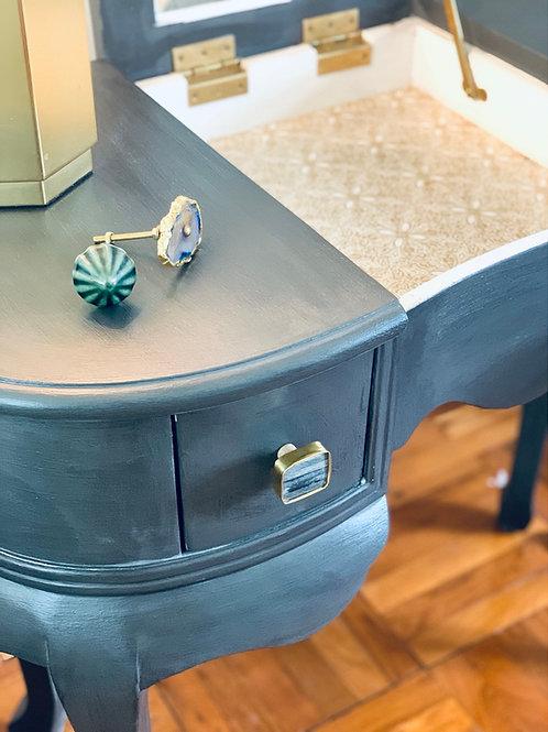 Charcoal Vanity Desk