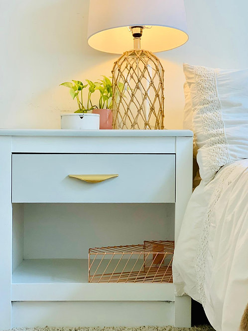 White & Grey Solid Wood Drawer