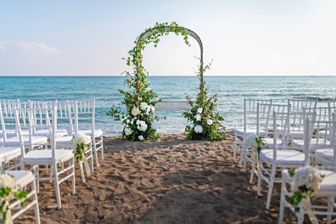 Getting married on the beach Paphos Cyprus