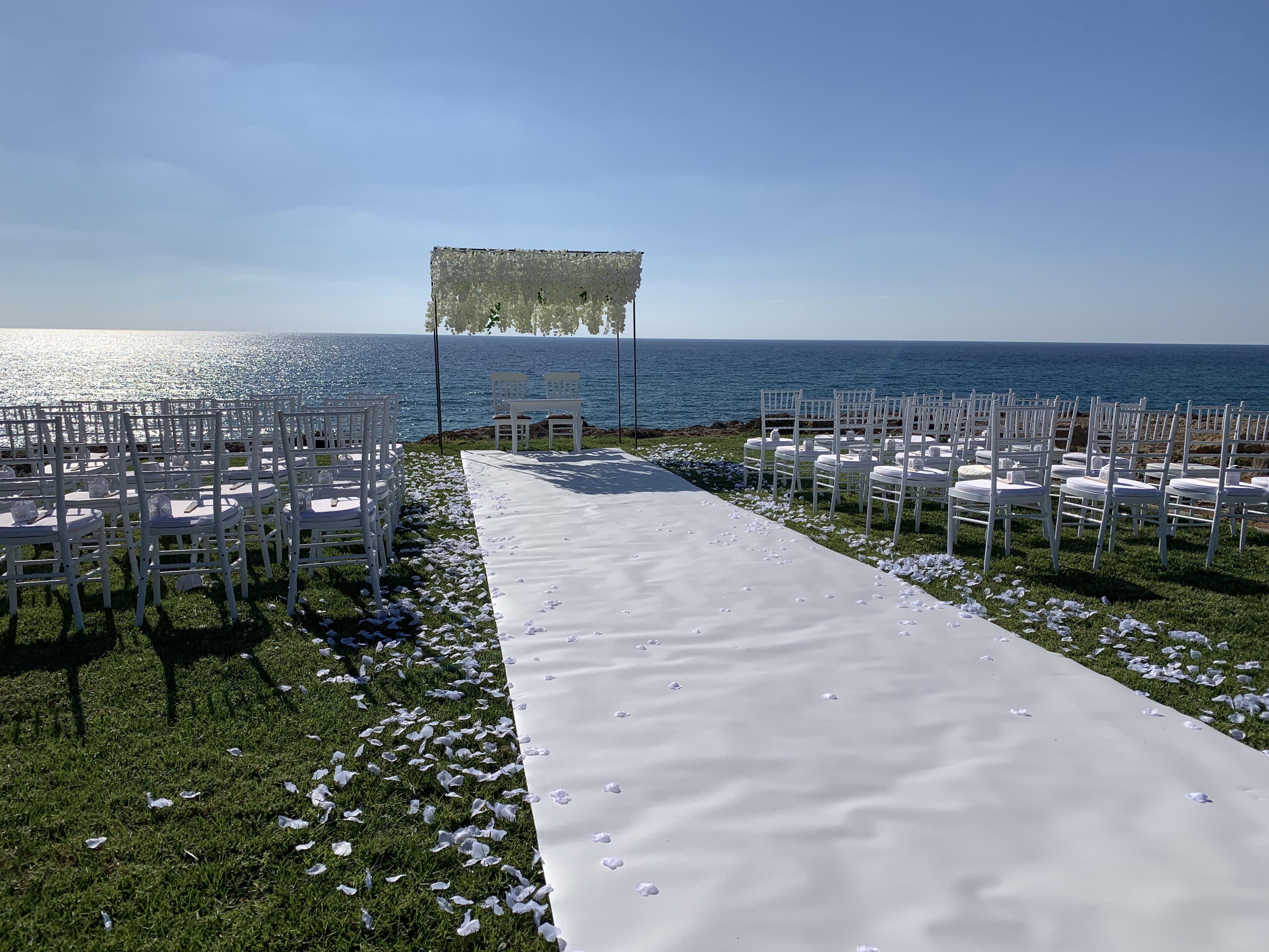 Alassos beach wedding venue Paphos