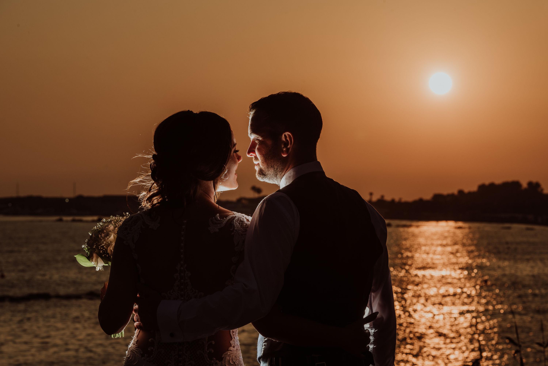 wedding paphos cyprus sunset