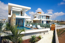 Right on the beach holiday villas Cyprus