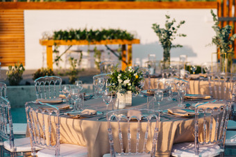 Alassos Ktina is a new great beach wedding venue