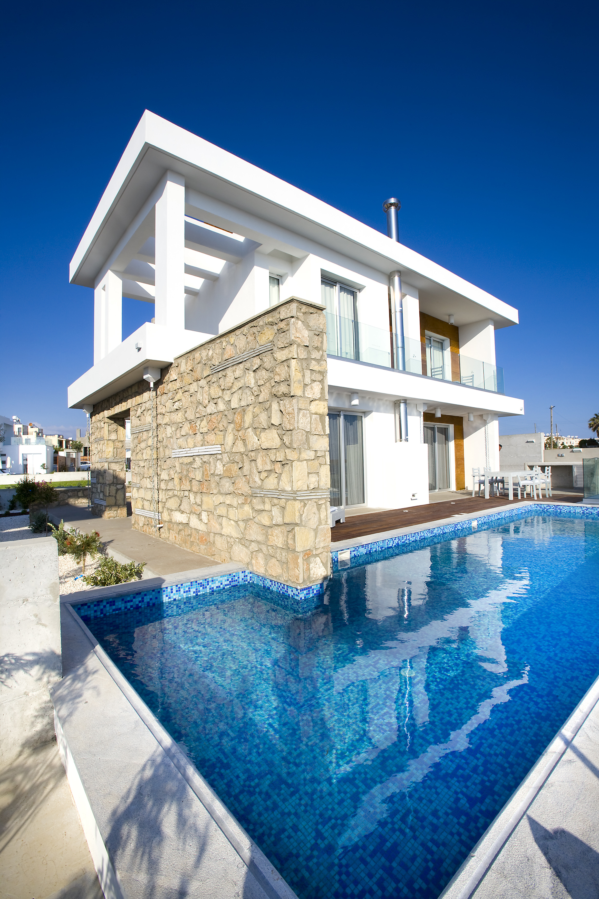 Cyan three bedroom luxury villa on the beach Cyprus