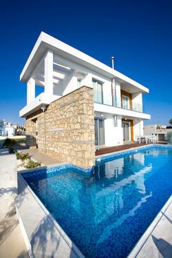 Cyan three bedroom luxury villa on the beach Cyprus
