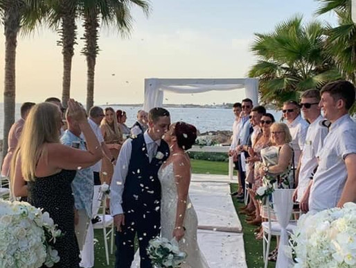 Rachel & Adam, Olympic Lagoon Paphos, 19th October 2020