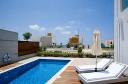 Azure three bedroom villa on the beach Cyprus