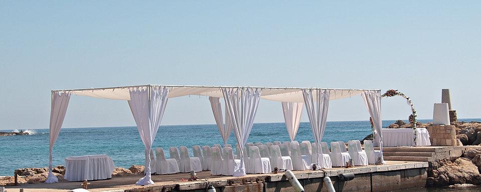 Coral Beach Hotel Weddings In Paphos By Cyprus Dream Weddings