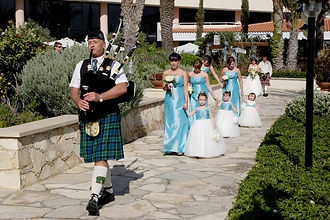 Bringing Scotland to your Cyprus Wedding with our own Scottish Piper