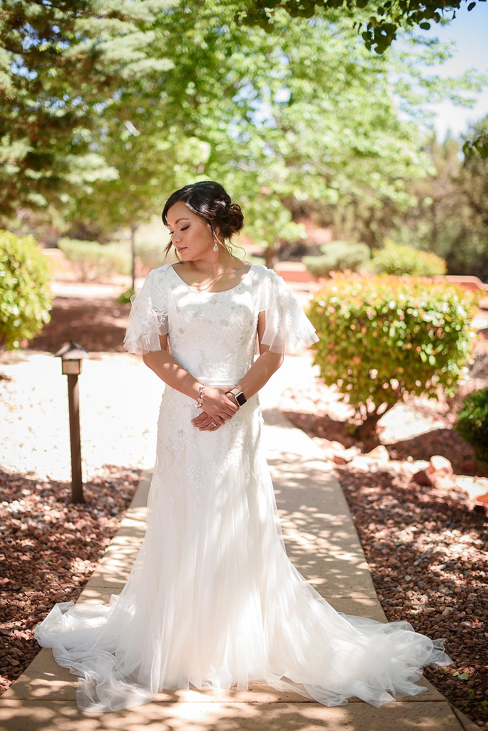 Bride Portrait| Sedona Heritage Museum| Joyce and Friday