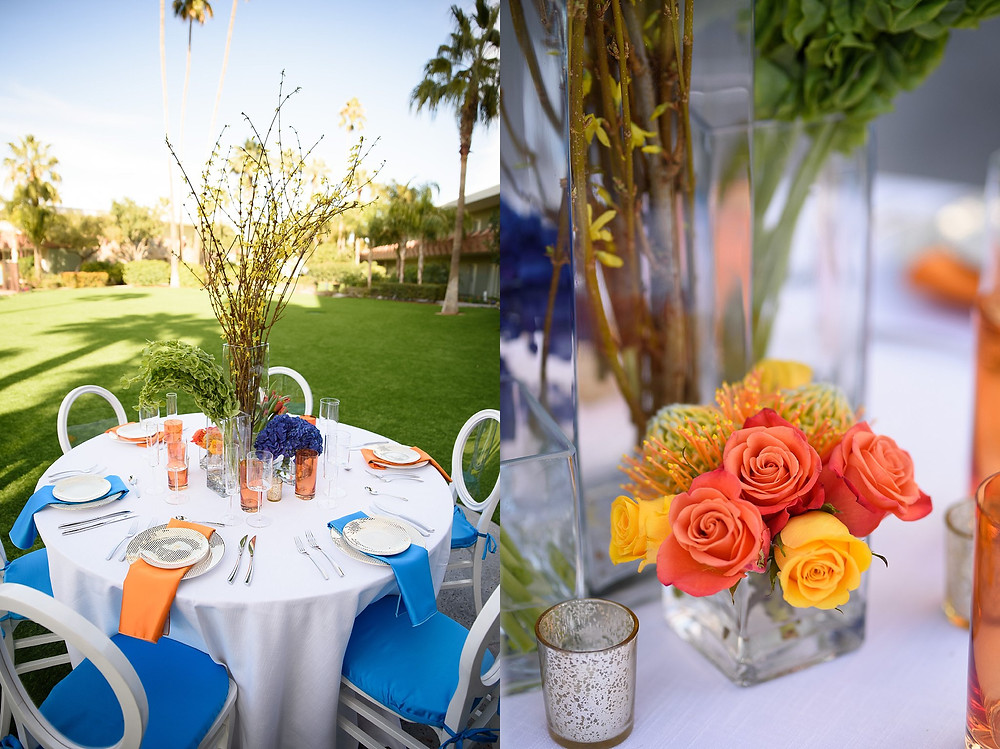colorful wedding table setting