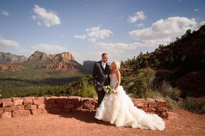 Katy and Brandon's Summer Wedding at Sky Ranch Lodge in Sedona