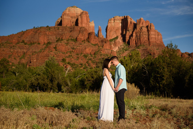 Sedona Baby-moon Sunset Maternity Session- The Grubbas