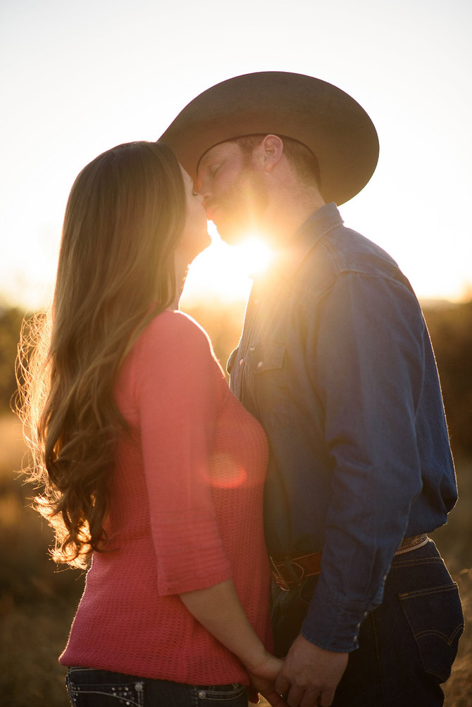 Trey and Jessica's Sedona Horse Ranch Engagement