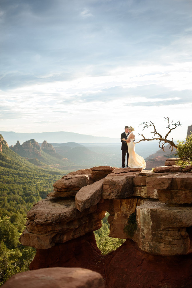 Romantic and Epic Sedona Engagement Session at Merry Go Round Rock