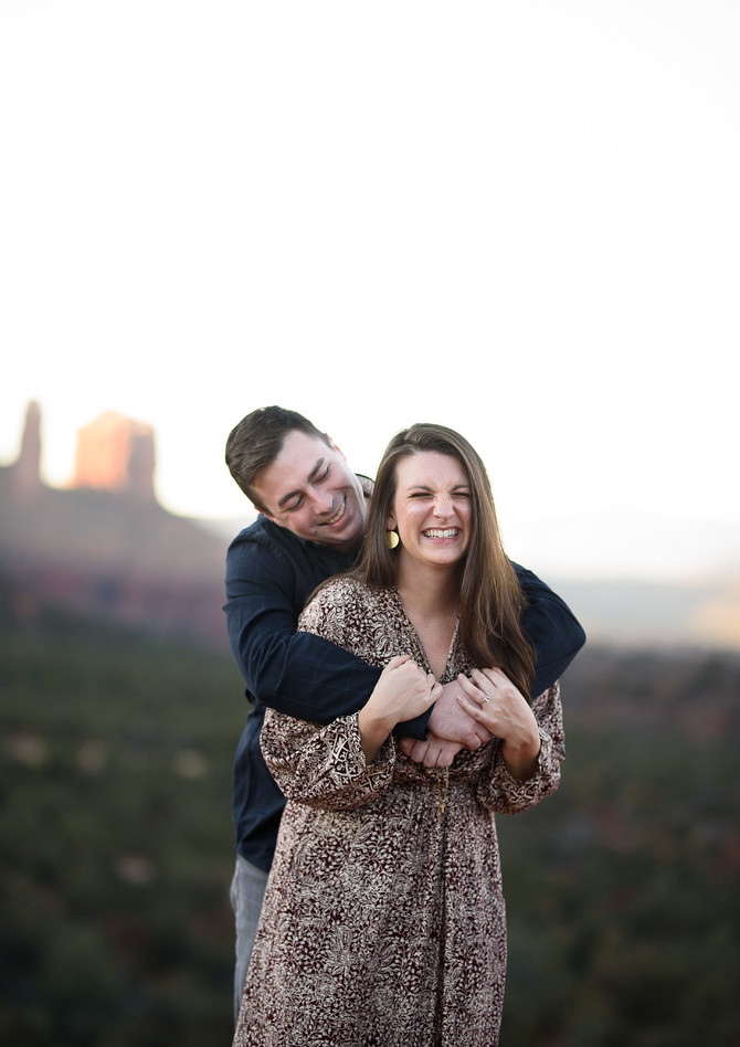 Corey and Kylie | Sedona Arizona | Engagement Session at Bell Rock