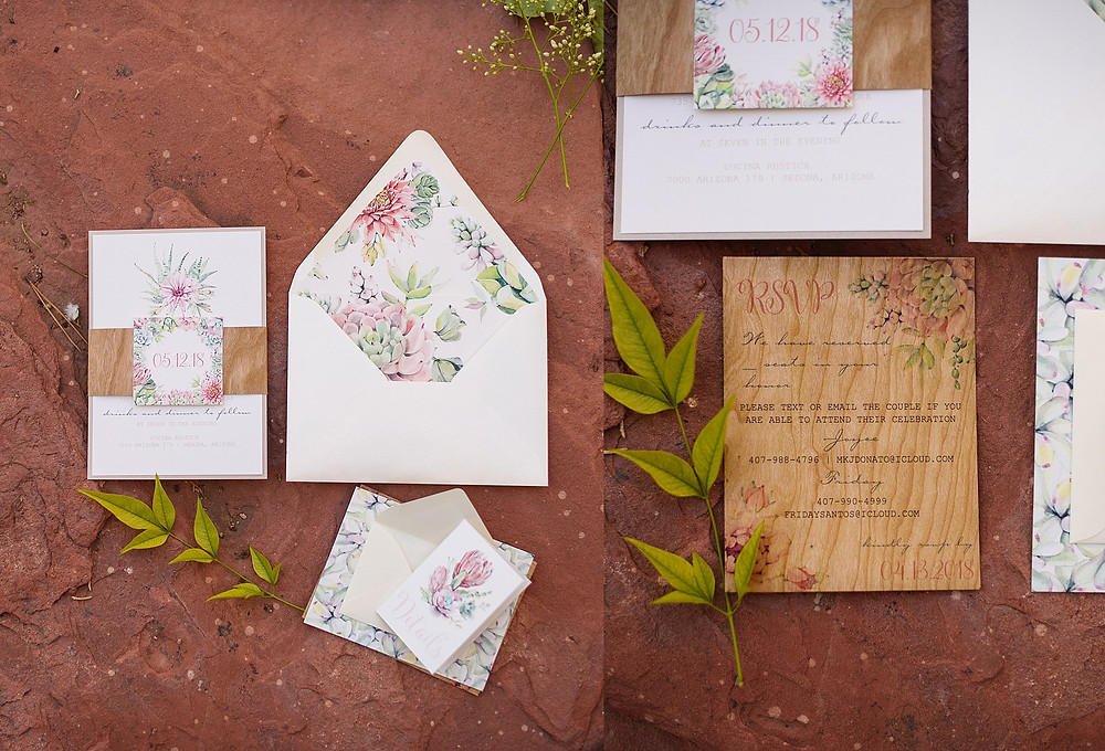 Wedding Invitations| Sedona Heritage Museum| Joyce and Friday