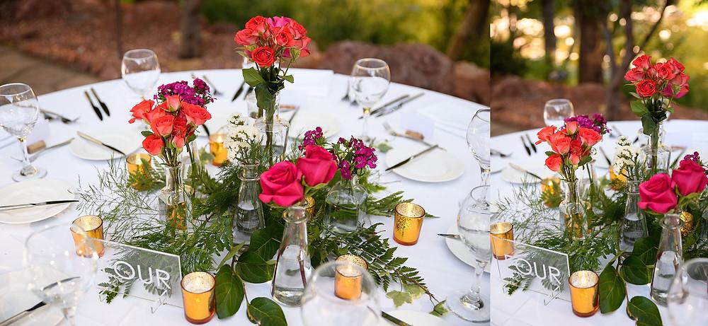 wedding reception set up| sedona arizona | kris and Robb