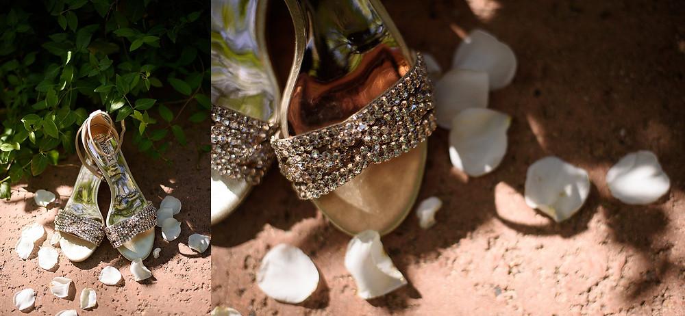 Wedding shoes for a Sedona bride
