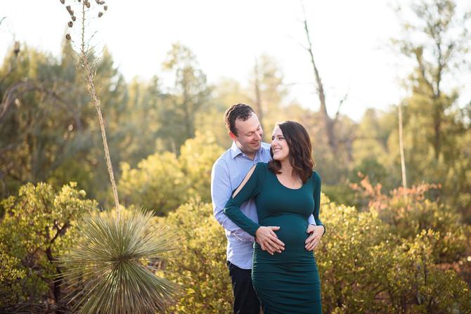 Sedona Baby Moon | Blake and Adam's Sedona Maternity Session at Cathedral Rock