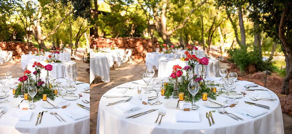 wedding table settings| sedona arizona | kris and Robb
