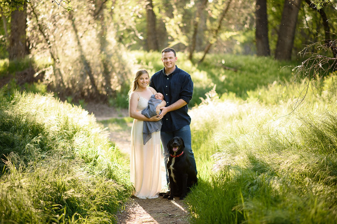 Jared and Shiloh's Cottonwood Family Session