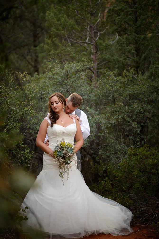 Tom and Kim's Intimate Camp Verde Wedding
