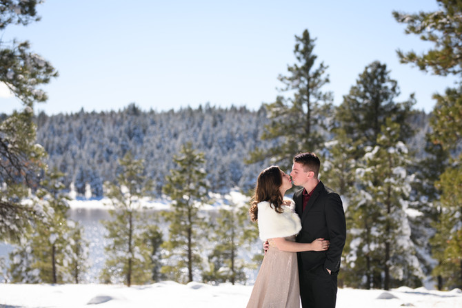 Chris and Evie's Snowy Flagstaff Elopement