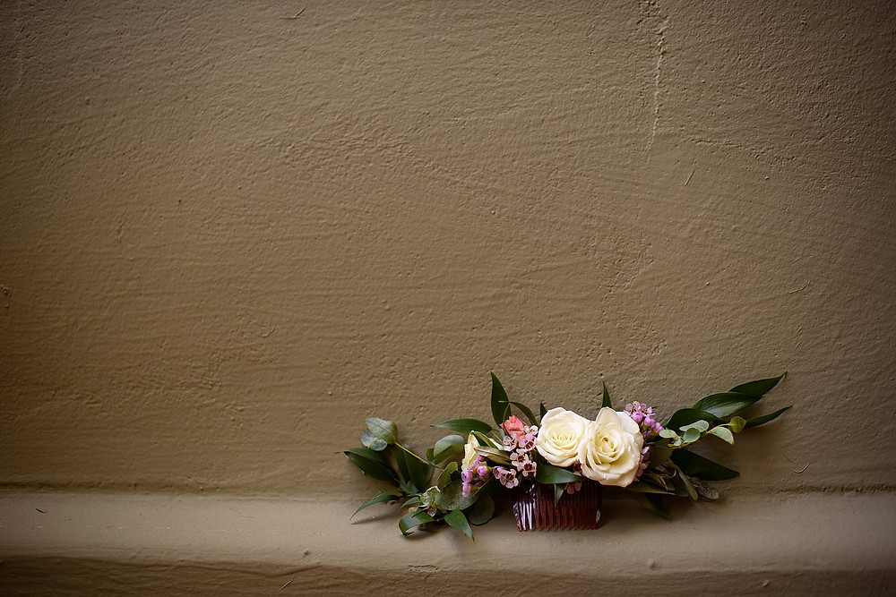 Brides hair comb with flowers| Sedona Heritage Museum| Joyce and Friday
