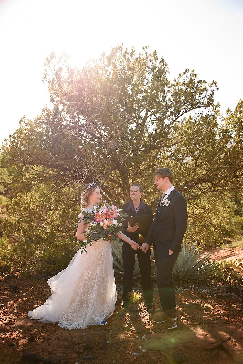 romantic sunset elopement|Sedona Arizona| James and Magda