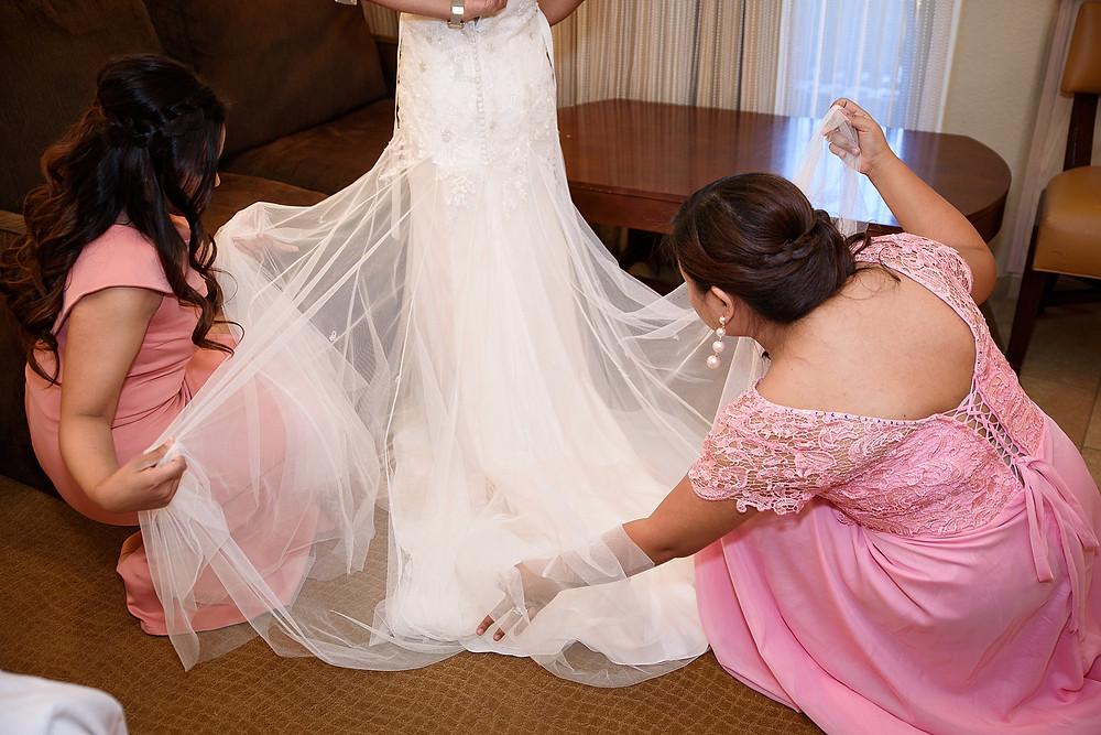 Bride getting ready  Sedona Heritage Museum  Joyce and Friday