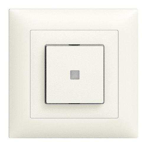 UP-Leuchtdruckschalter Edue 6/1L ws m.Linse gb.