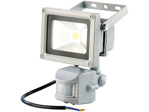 LED-Fluter mit Metallgehäuse, 10W, IP44, PIR, WW
